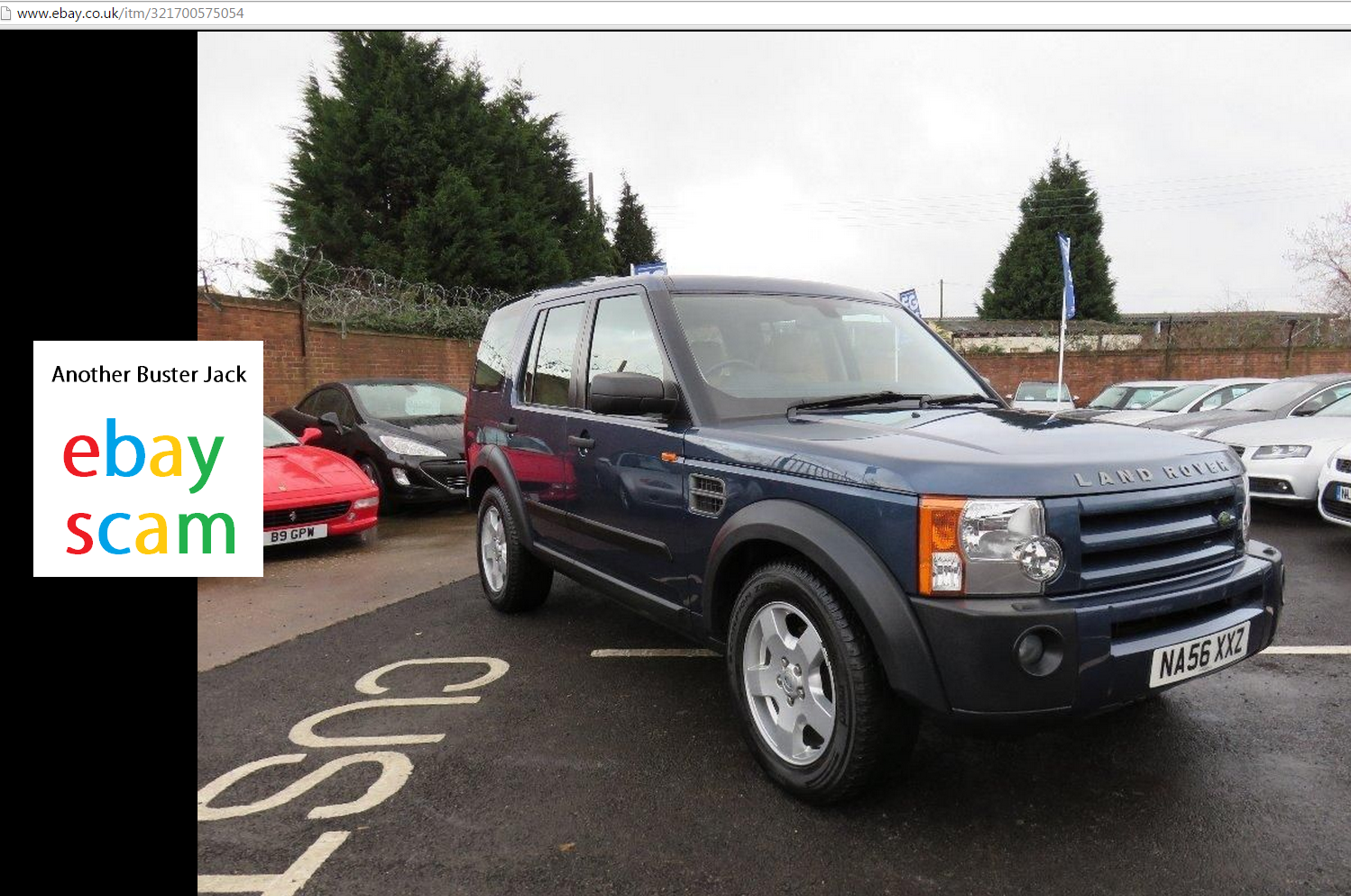 Jack Buster Jack Ebay Scam 2006 Land Rover Discovery 2 7td 159 Other Vehicles Na56xxz Fraud Na56 Xxz 20 Mar 15