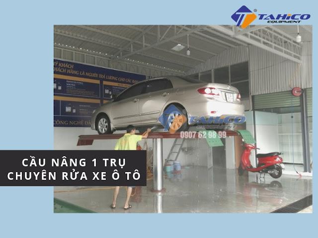 Cầu nâng 1 trụ chuyên rửa ô tô
