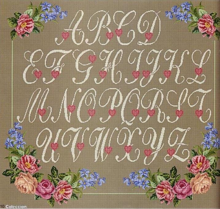 wzory liter do haftowania