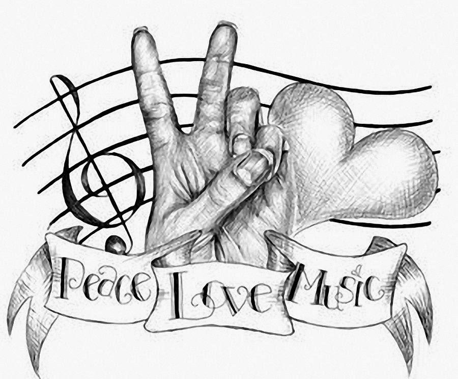 love music notes coloring pages | Música LaZa: DÍA DE LA PAZ, 30 DE ENERO