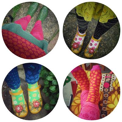 Myller leggings and super socks by Gudrun Sjödén
