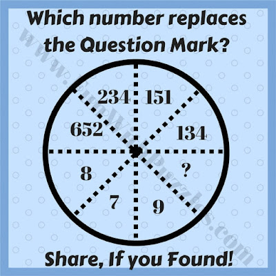 Fun circle logical reasoning puzzle question