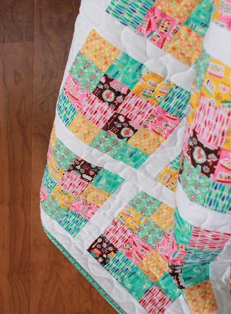 Fun quilt made with Vintage Kitchen fabrics from Riley Blake