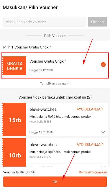 Cara Menggunakan Voucher Gratis Ongkir di Shopee 21