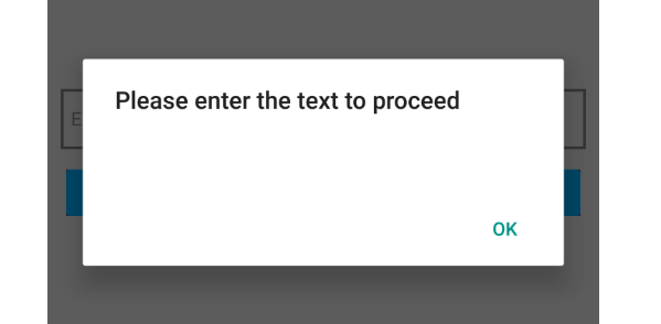 React Native Check Text Input is Empty or Not in Android