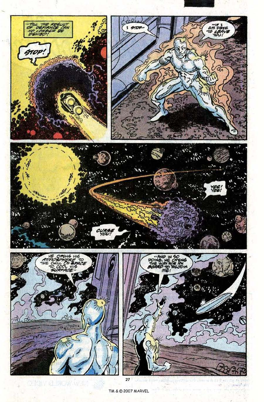 Read online Silver Surfer (1987) comic -  Issue #22 - 29