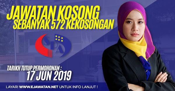 jawatan kosong kerajaan SPA Malaysia 2019