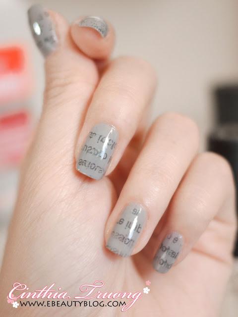 Ebeautyblog Com Cool Newspaper Print Nail Art Tutorial