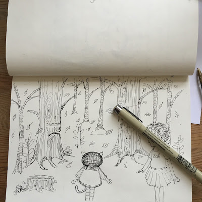 Little Curly's children book sketches