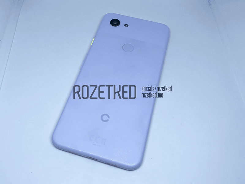 Alleged live photo of the Pixel 3 Lite back