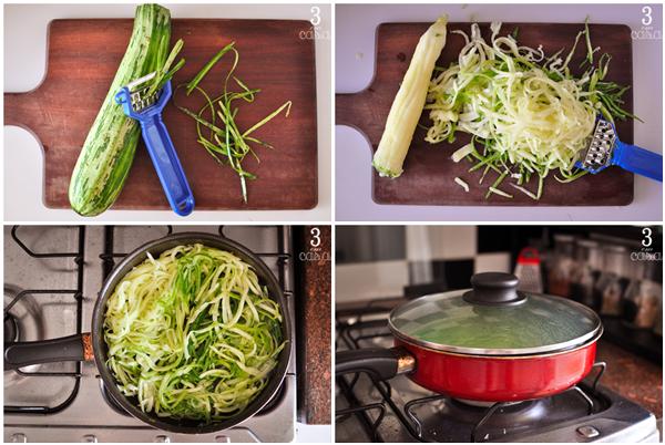 como cortar macarrão de abobrinha