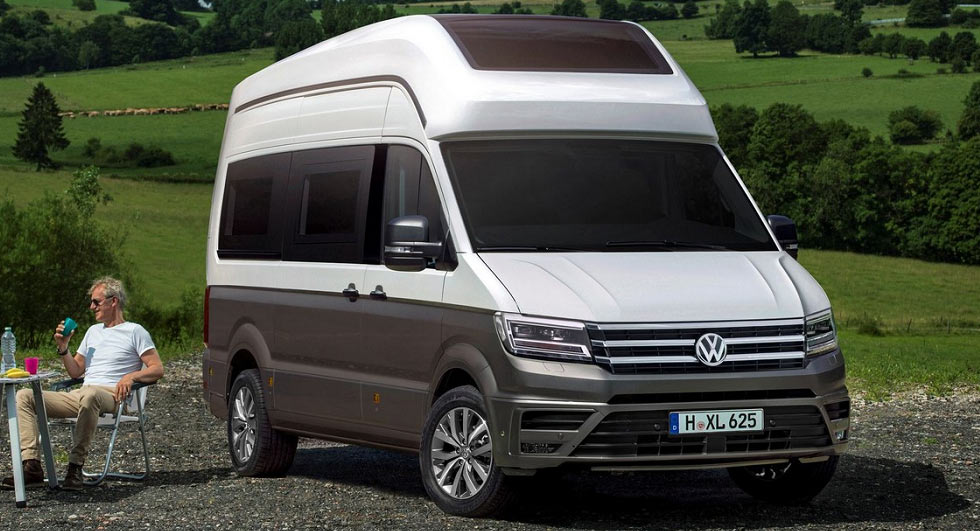 vw california xxl concept previews a crafter based motorhome. Black Bedroom Furniture Sets. Home Design Ideas