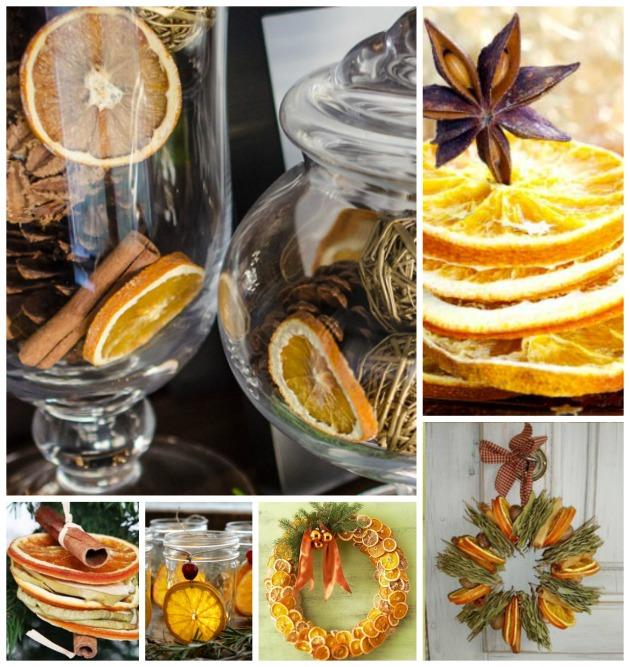 Decorazioni natalizie con le bucce di arancia t regali fai - Decorazioni con frutta essiccata ...