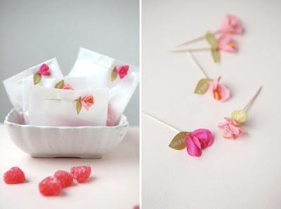 sac en papier personnalise cadeau fleur