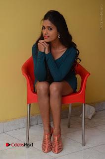 Telugu Actress Prasanthi Stills in Green Short Dress at Swachh Hyderabad Cricket Press Meet  0075.JPG