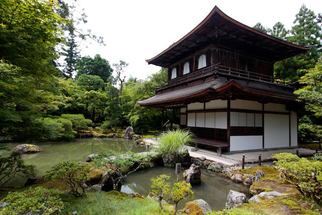 El templo Ginkakuji o pabellón de plata de Kioto