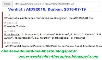 de Truchis leibowitch durban aids2016 ANRS162-4D NCT02157311 delfraissy hiv vih Breather
