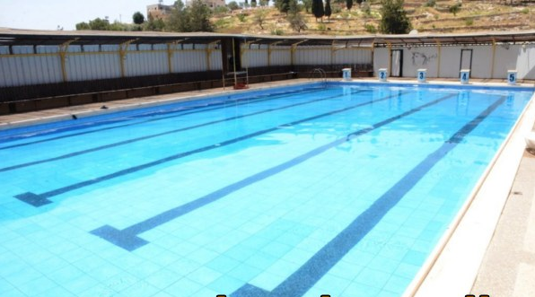 the olympic-sized swimming pools in the west bank that reuters
