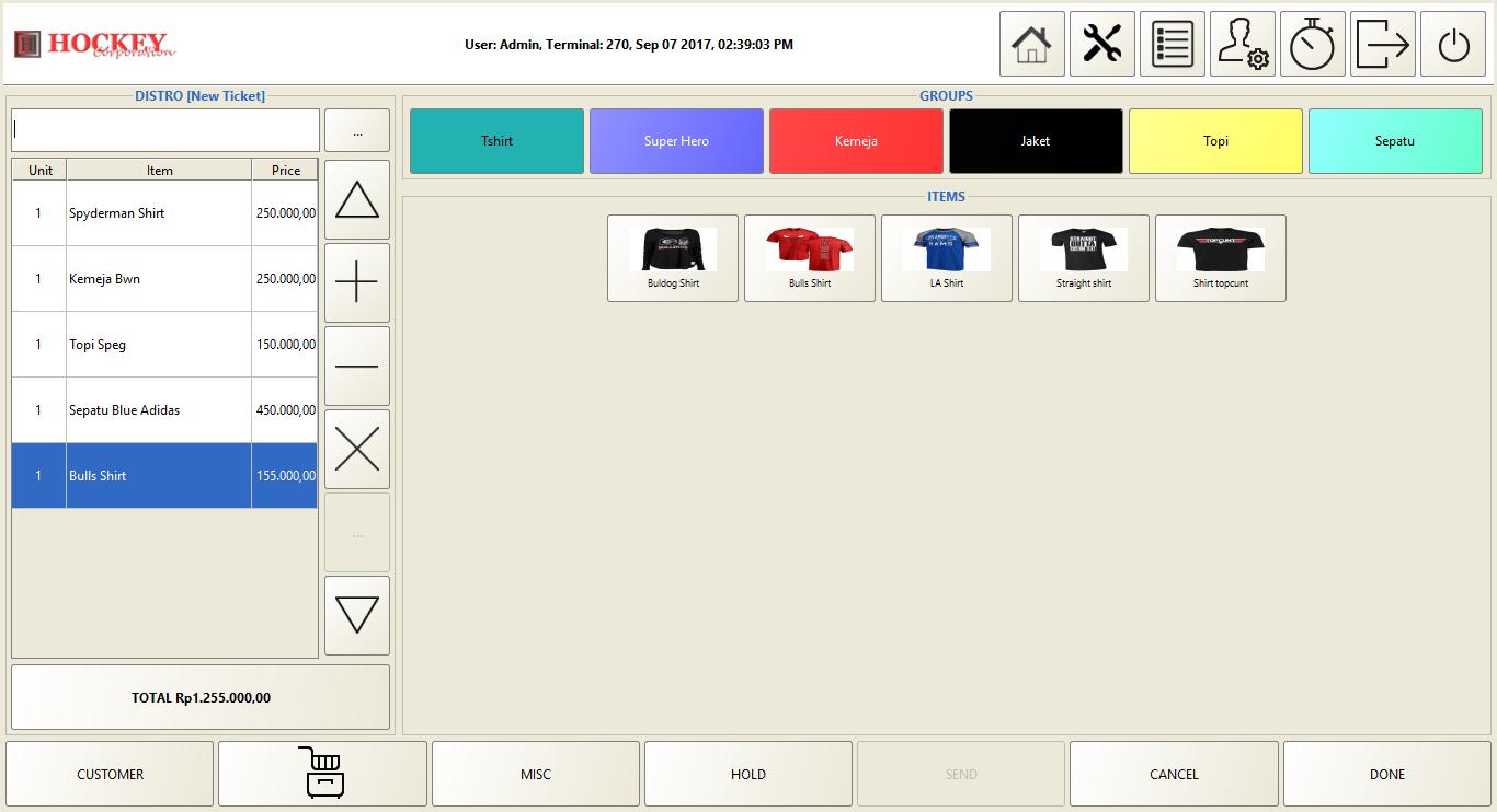 Toko Baju Butik distro Software program aplikasi mesin kasir online