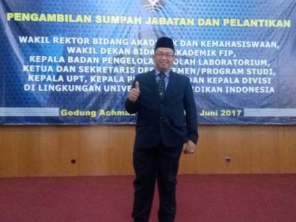 Pelantikan Joni Rahmat Pramudia di UPI Bandung
