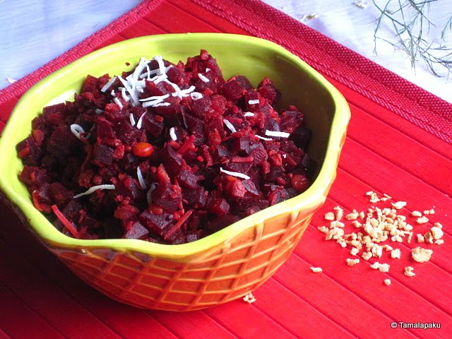 Beetroot-Soy Granules Curry