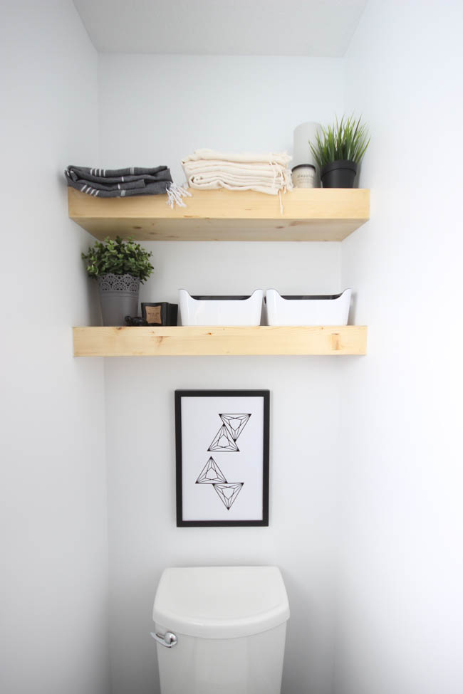 Creativity Unleashed feature how to build your own floating shelves at MyLove2Create
