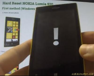 cara hard reset nokia lumia 520
