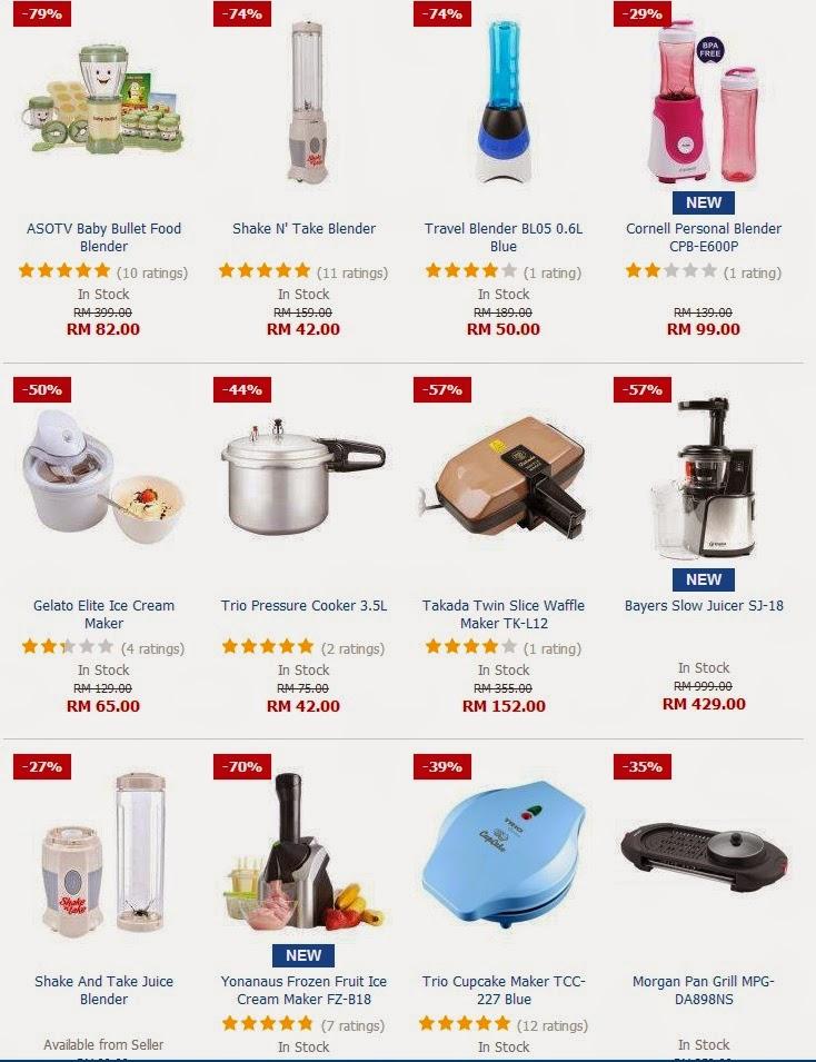 Terdapat Pelbagai Peralatan Dapur Dijual Pada Harga Diskaun Sehingga 60