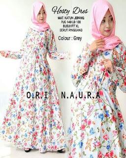 Gambar Long Dress Batik Kombinasi Brokat