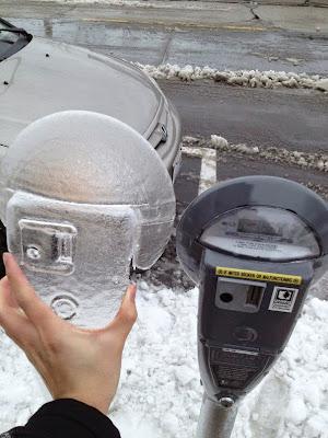 Parquímetro congelado
