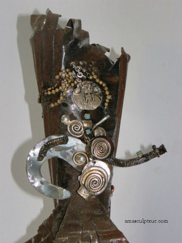 Lucy - sculpture métal - upcycling, recyclage