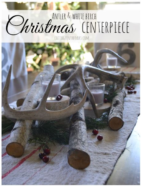 antler+centerpiece 7 Winter Woodland-Inspired Crafts 19
