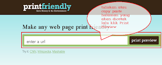 Cara Mencetak Halaman Web 1