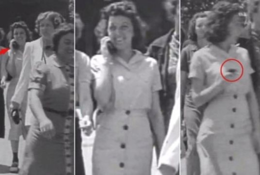 WATCH: Time Traveling Woman Holding A Cellphone Captured In 1938