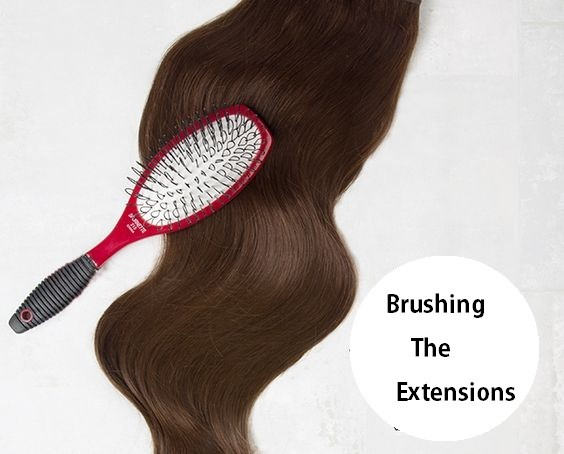 brushing the extensions