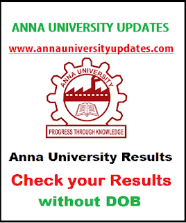 Anna University Results Without Dob - Check here