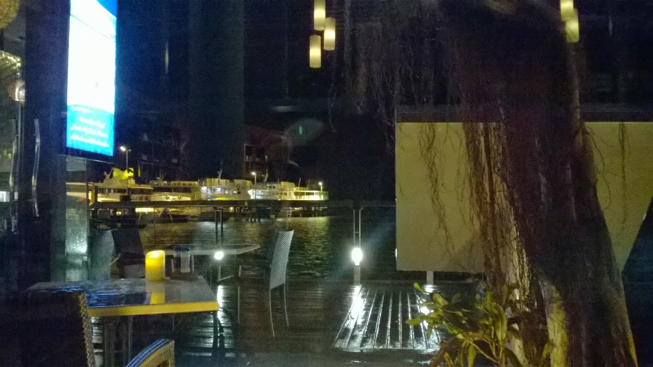 Blurry photo, restaurant window reflections, Cairns Australia