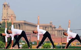 Yoga Asana at Rajpath