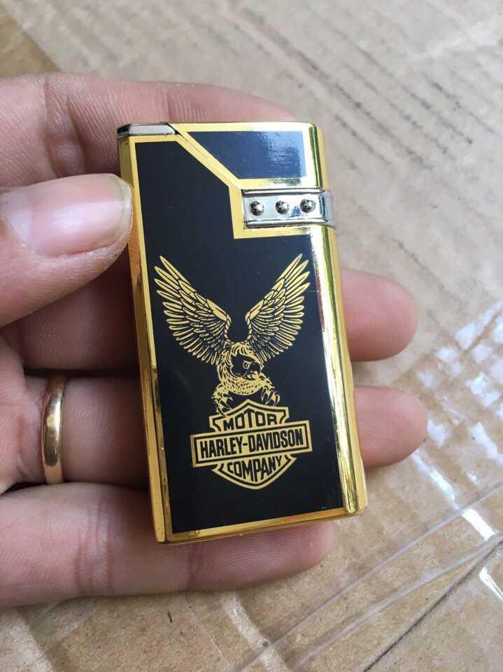 Bật lửa hộp quẹt Đại bàng Harley-Davidson màu vàng cực đẹp