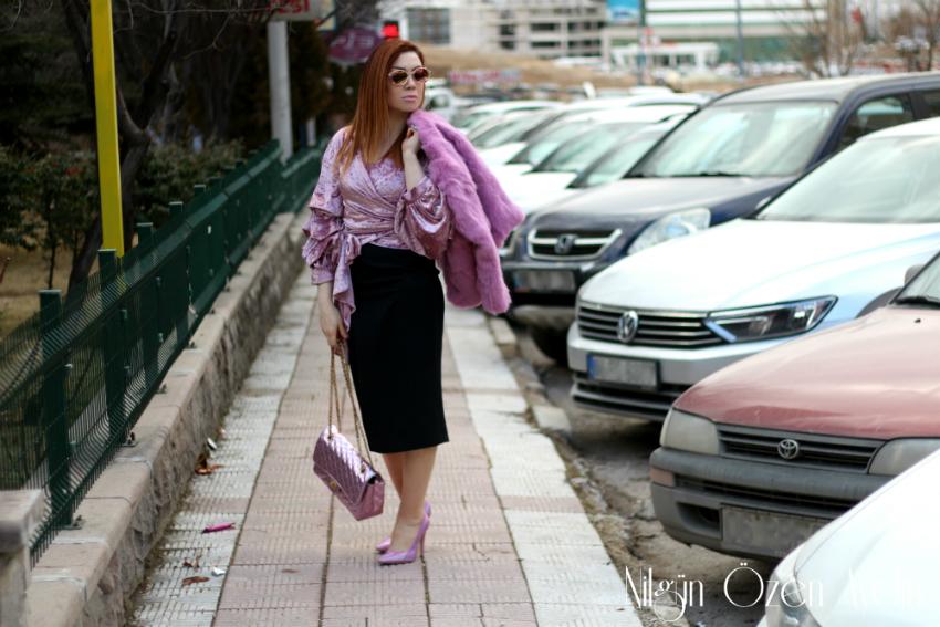 pembe kürk montlar-fashion blogger-moda blogları-moda blogu-fur coat