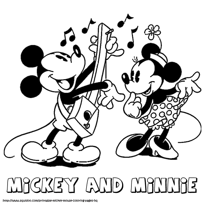 Printable Coloring Pages for Kids : Mickey and minnie ...