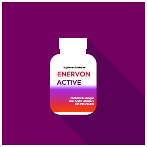 Enervon Active, Multivitamin dengan Non Acidic Vitamin C dan Mineral Zinc