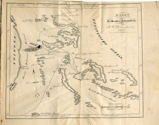 map of route through Bahamas - Lotgevallen van den heer O.H.Bonnema, 1853, used with kind permission of Collectie Tresoar.