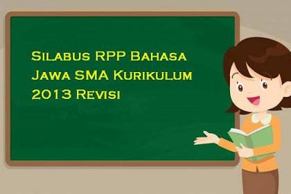 Silabus RPP Bahasa Jawa SMA Kurikulum 2013 Revisi
