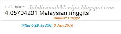 USD to Ringgit Malaysia