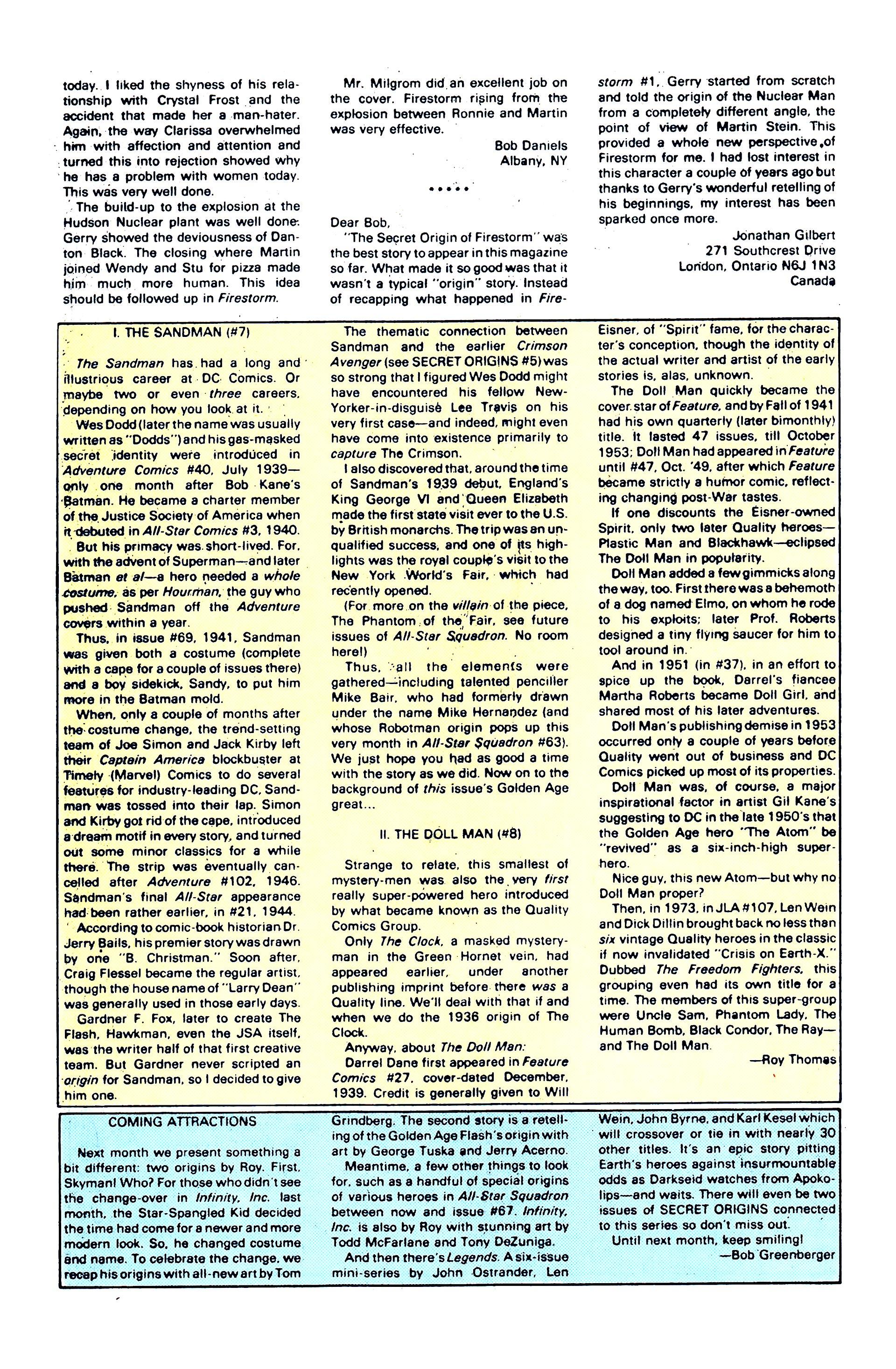 Read online Secret Origins (1986) comic -  Issue #8 - 30