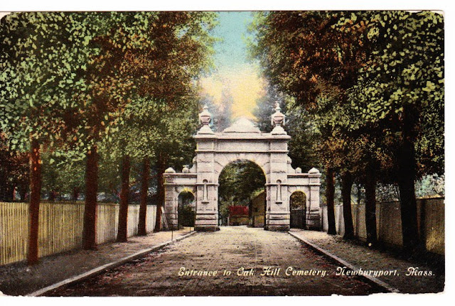 Entrance, Oak Hill Cemetery, Newburyport, Massachusetts, arch, archway, gate