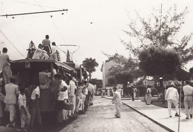 Bonde na Prainha, Vila Velha. anos 1940.