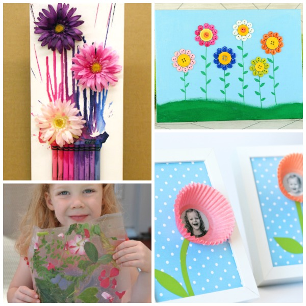 50 FLOWER CRAFTS FOR KIDS TO MAKE THIS SPRING