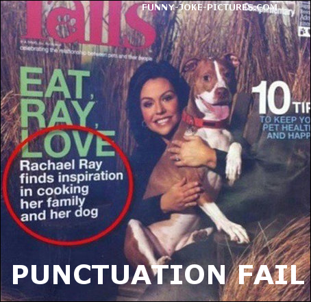Punctuation Fail Funny Magazine Joke Photo Image